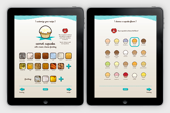 Sweeter than Sugar app: shown on iPad